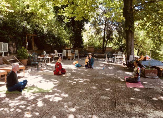 Cours en plein air au Pavillon Puebla!